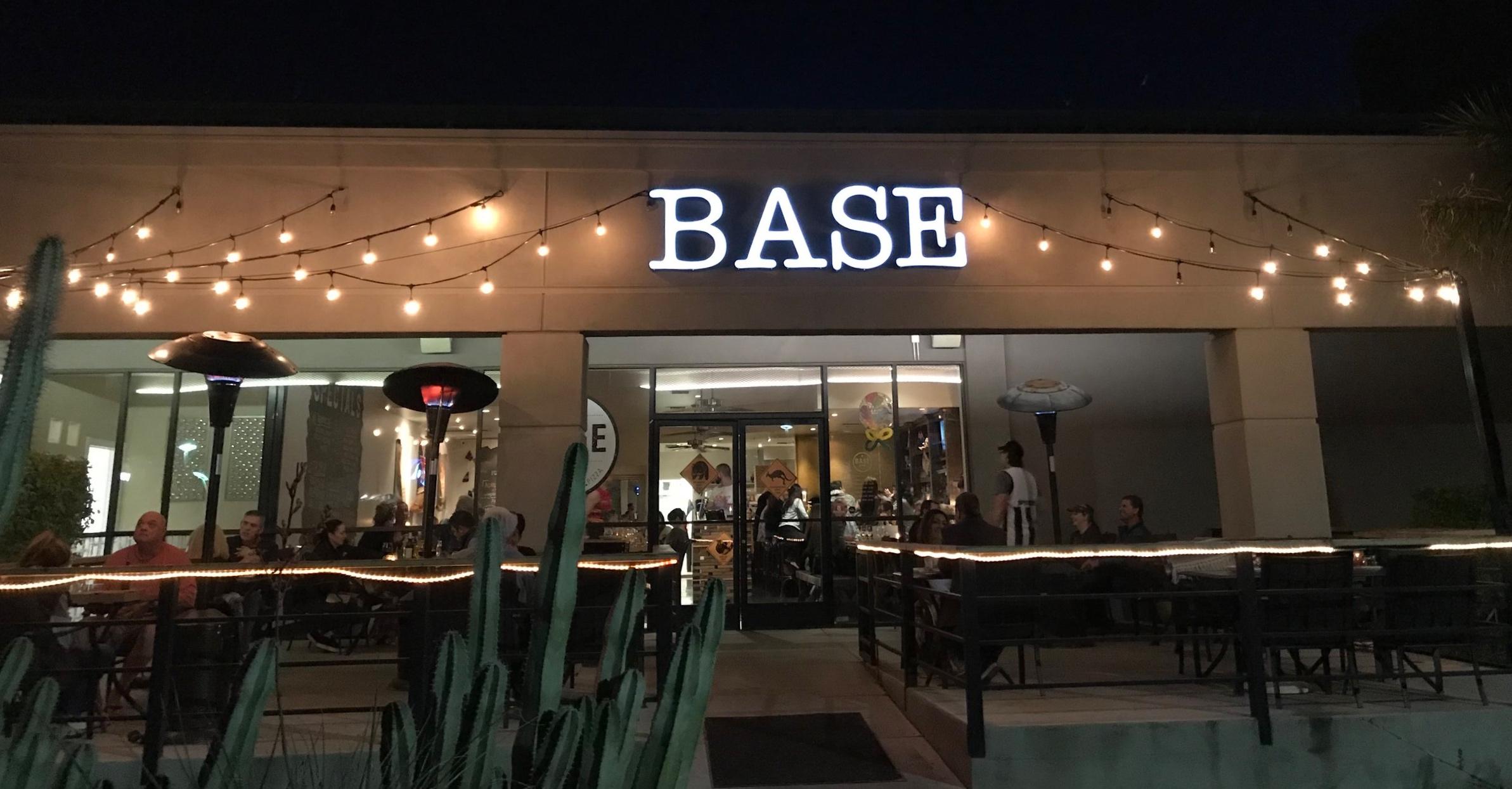 Base Pizzeria  serves delicious gourmet pizza.