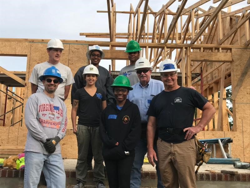 SEI and ASCE Habitat for Humanity Volunteers from the Fall 2018