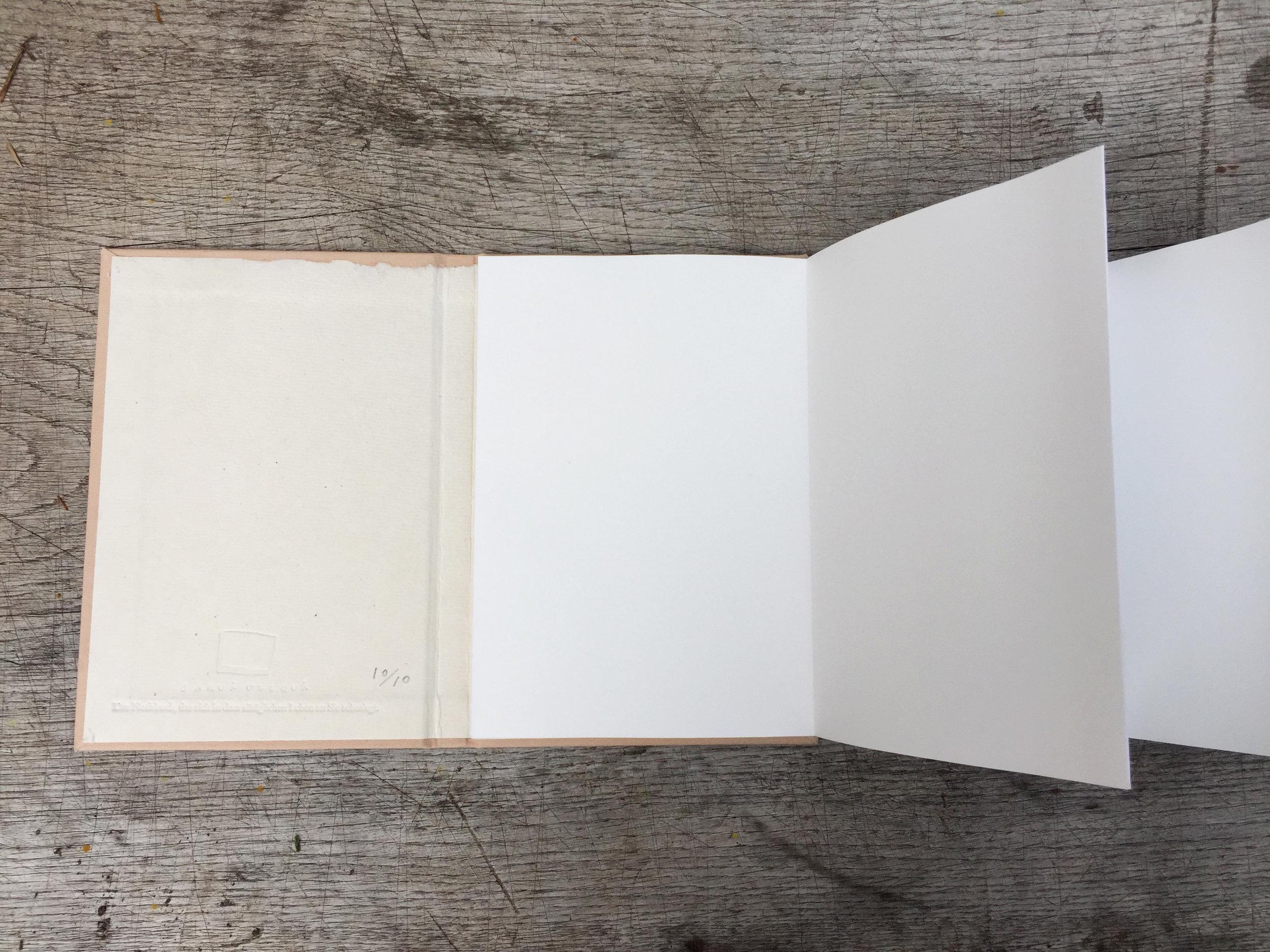 """Nur dieses Notizbuch """" Lärchenzweige"""" wird als eine Lepollero gebunden."""