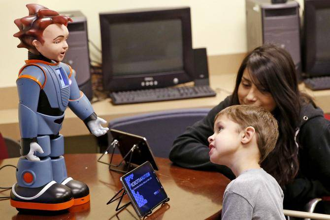 Image:   https://www.emergingedtech.com/2016/06/robot-engages-children-with-autism-to-teach-social-skills/