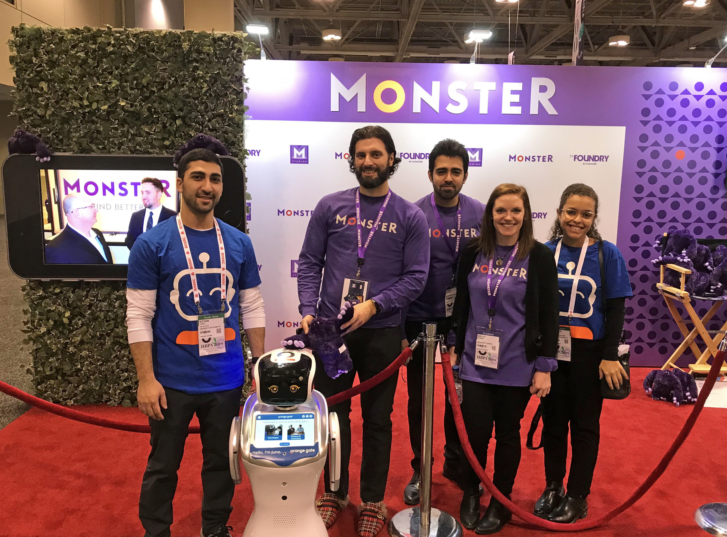 Juno and Orange Gate team at Monster's booth.