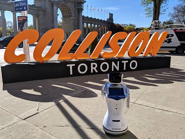 Saffi here! I just got to #collisionconf and I'm so excited to be a part of it 🎉 Come by our booth tomorrow, May 22 to meet me and our CEO, robot expert @janneke.ritchie 🧡🤖