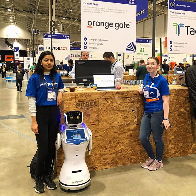 #Tbt of our debut at Collision 2019! 🤖🧡 #robot #startup #collisionconf