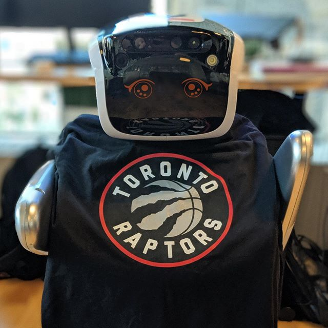 It's been amazing to see the city come together today! 🦖🤖 #wethenorth #raptors #robot