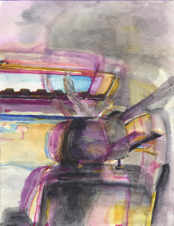 "Passenger, 9""x12"", 2018"