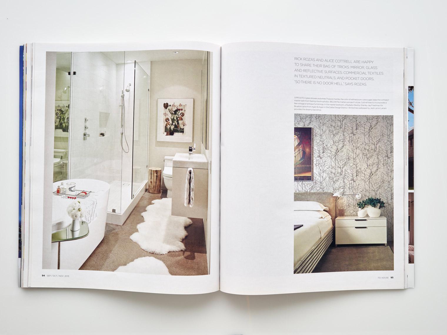 Stephen Karlisch FD House Turtle Creek High-Rise Bedroom Bath