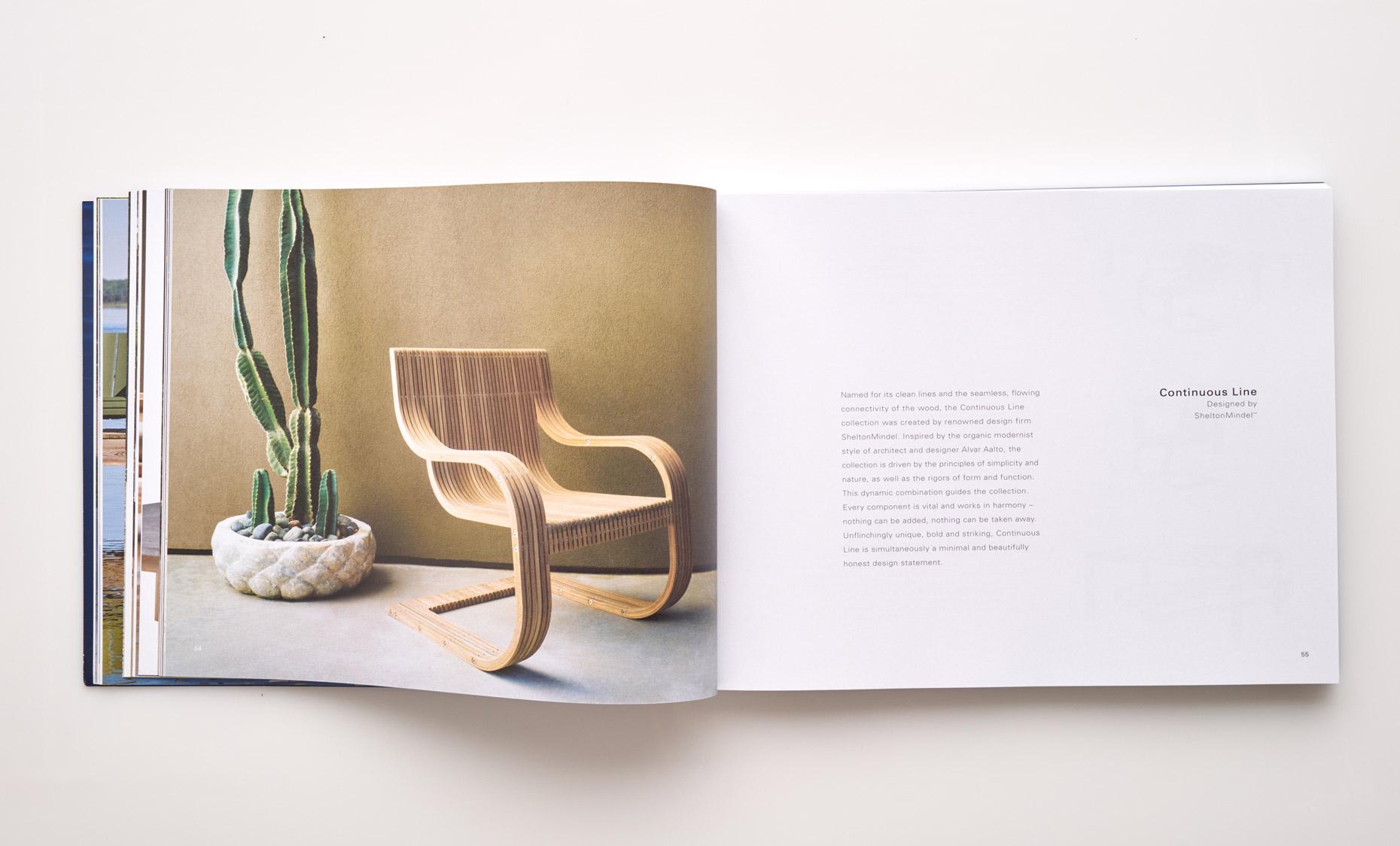 Stephen Karlisch Sutherland Furniture Continuous Line Chair