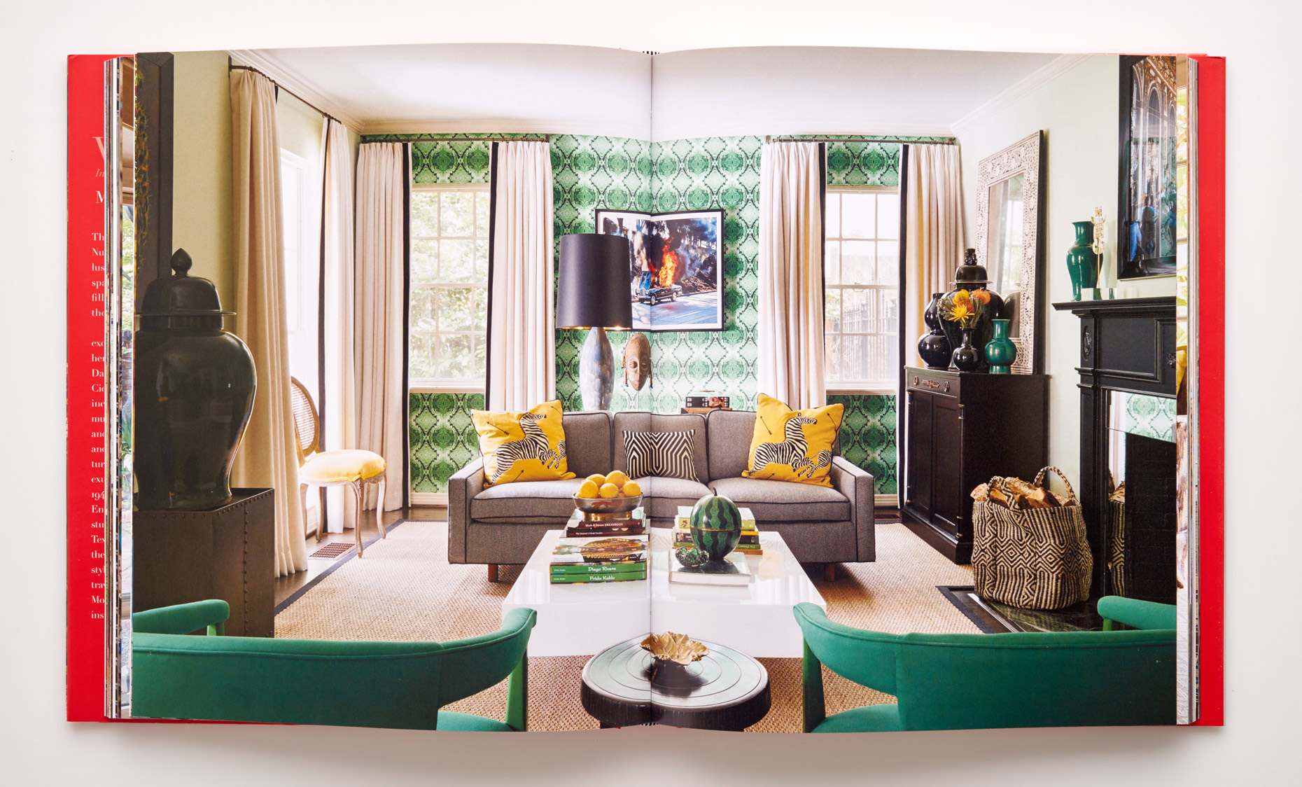 Stephen Karlisch Wanderlust Emerald Living Room