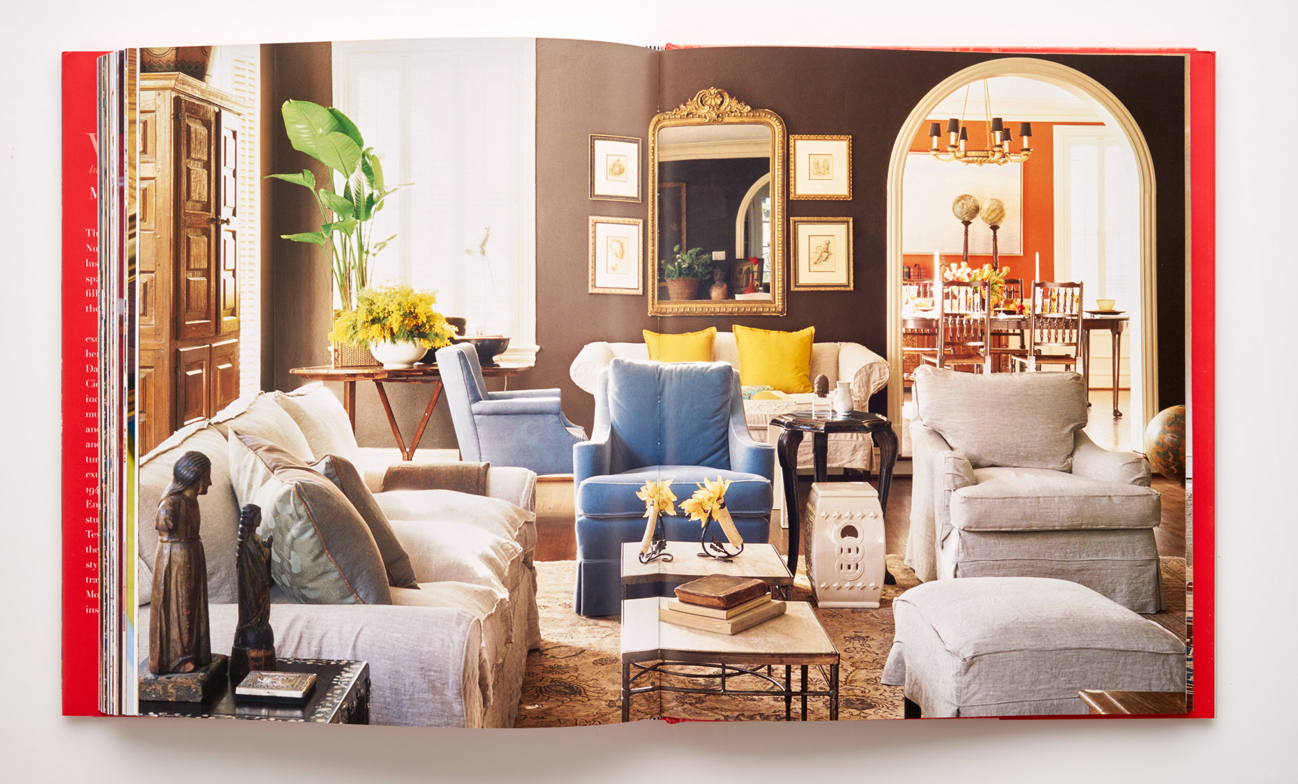 Stephen Karlisch Wanderlust Asian Inspired Living Room