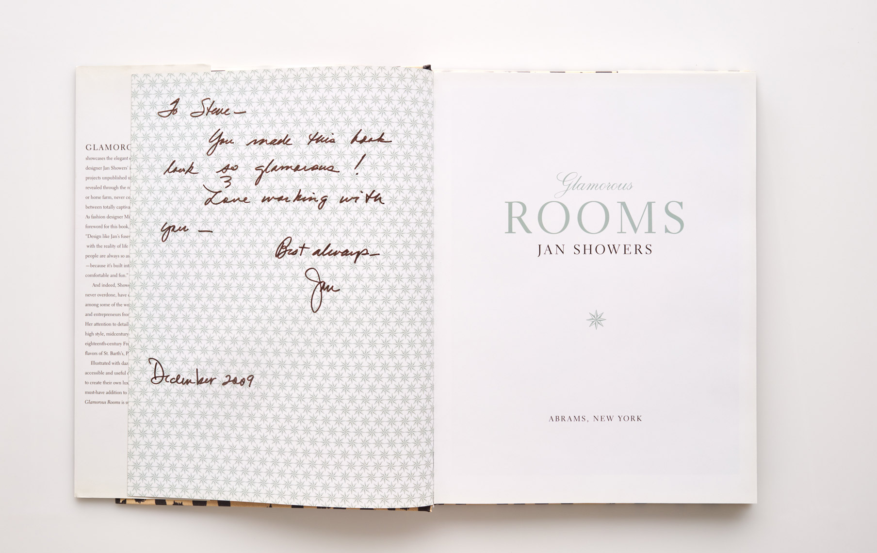 Stephen Karlisch Jan Showers Glamorous Rooms Autograph