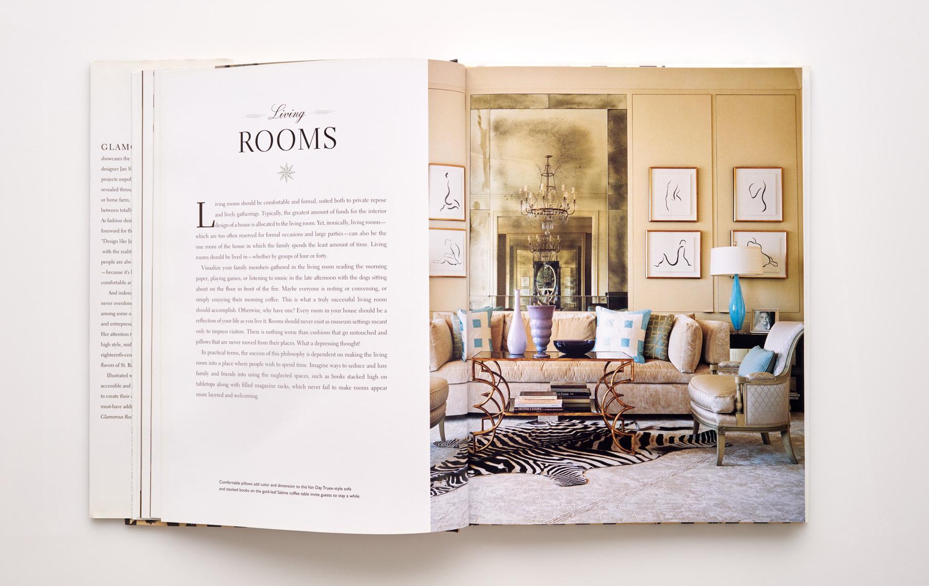 Stephen Karlisch Jan Showers Glamorous Rooms Living Room Title