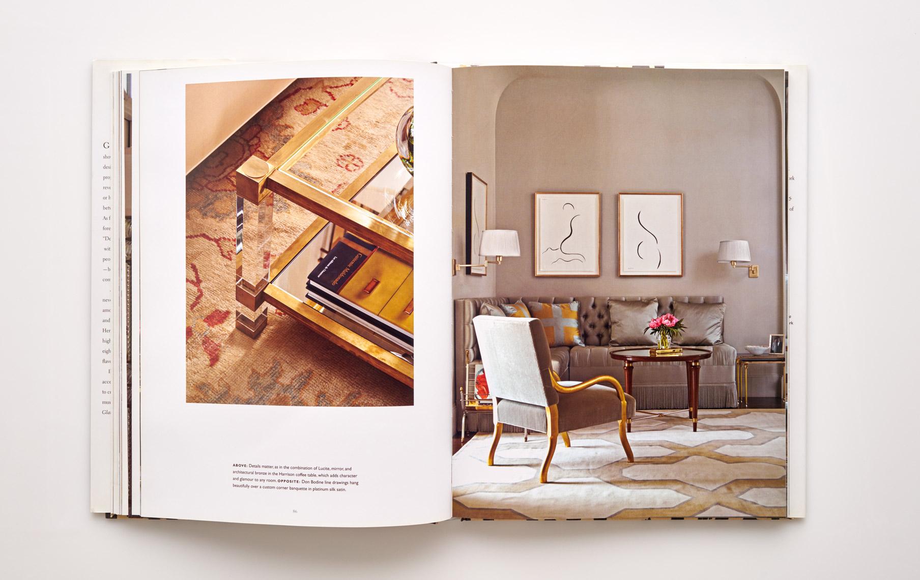Stephen Karlisch Jan Showers Glamorous Rooms Living Room Contemporary