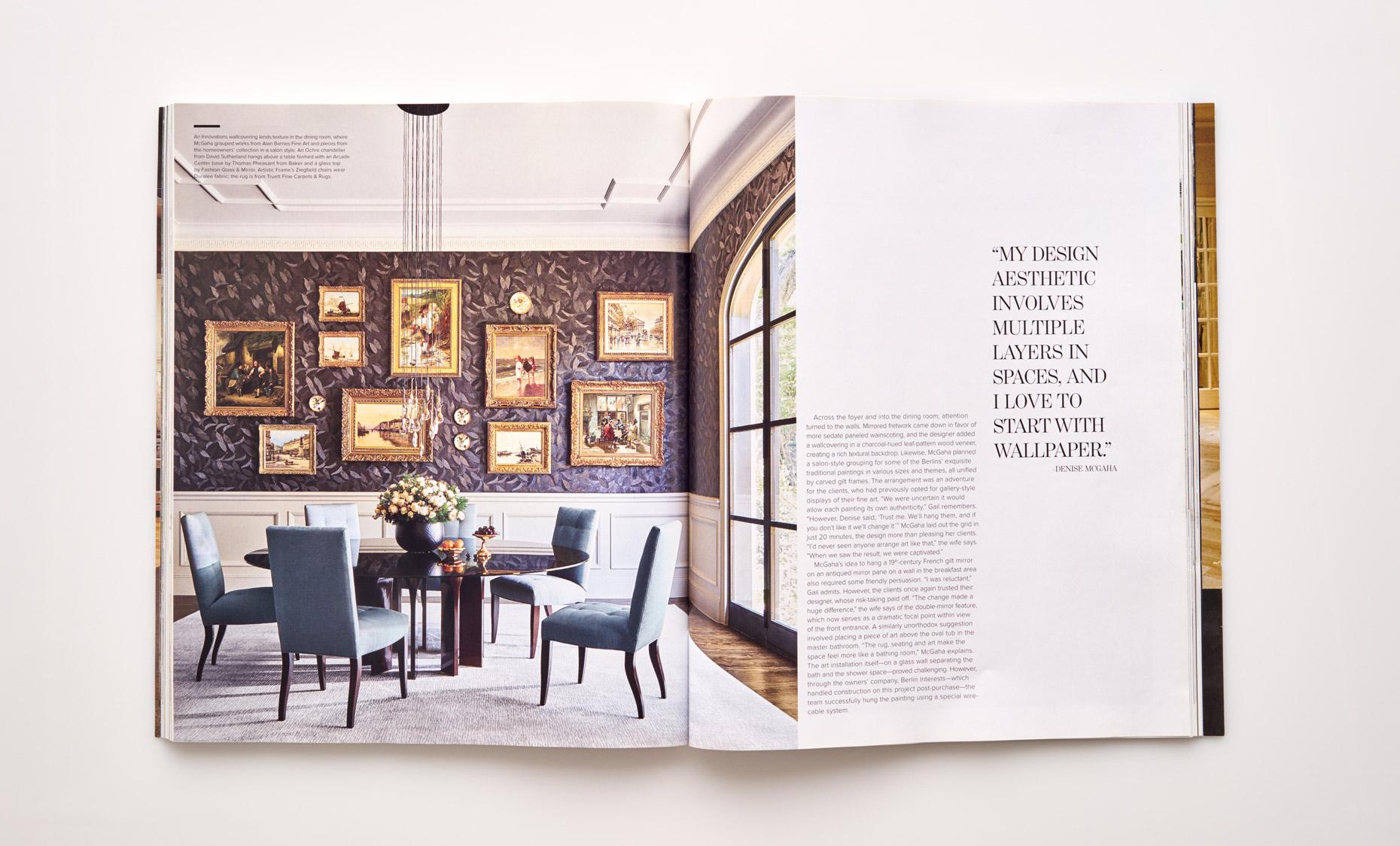 Stephen Karlisch Luxe Surface Interest Dining Room