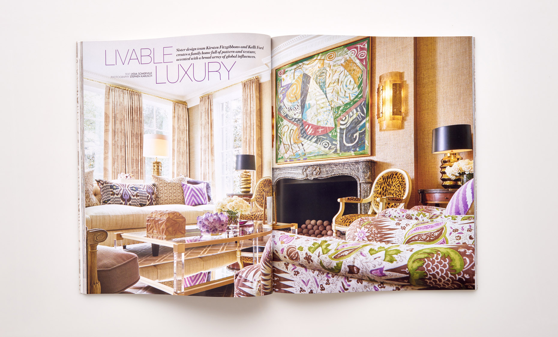 Stephen Karlisch Southern Home Livable Luxury Living Room