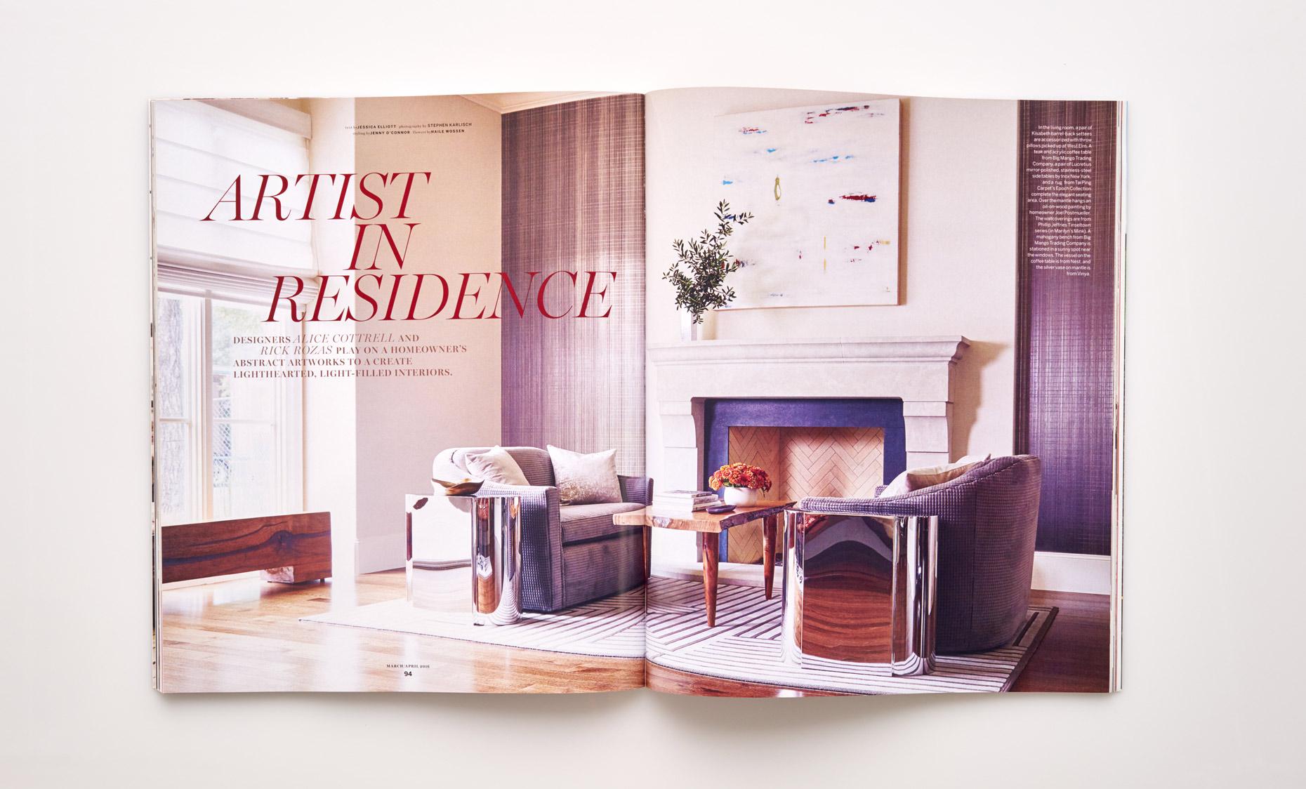 Stephen Karlisch D Home Artist In Residence Title Spread