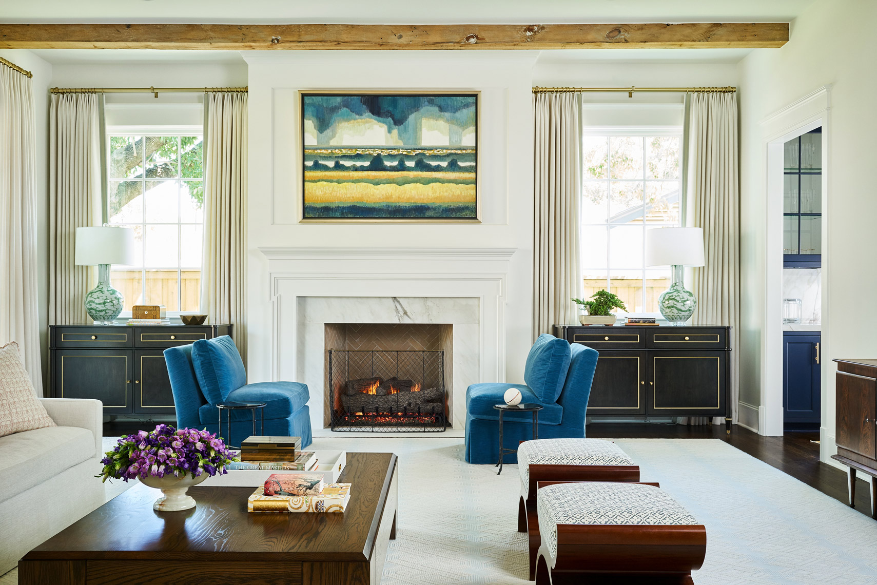 Stephen Karlisch Colgate Project Living Room Fireplace