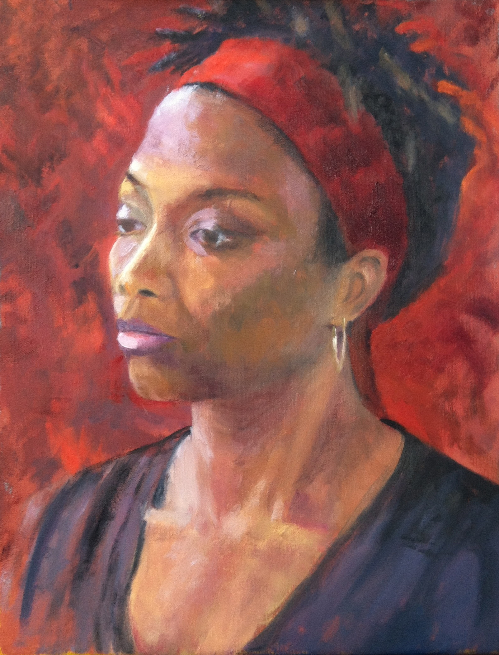 Woman with Red Headband