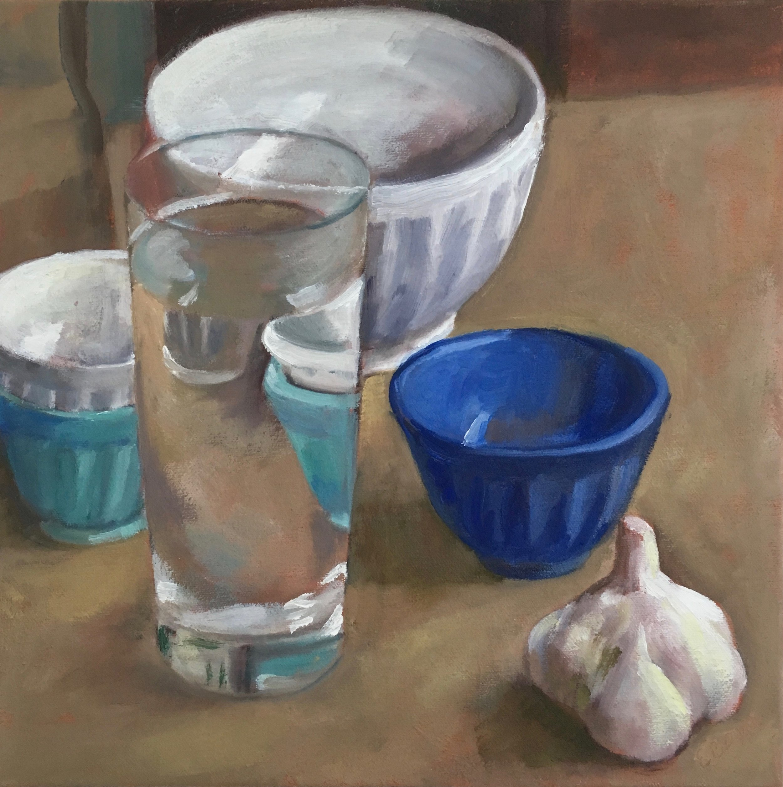 Water Glass and Small Bowls