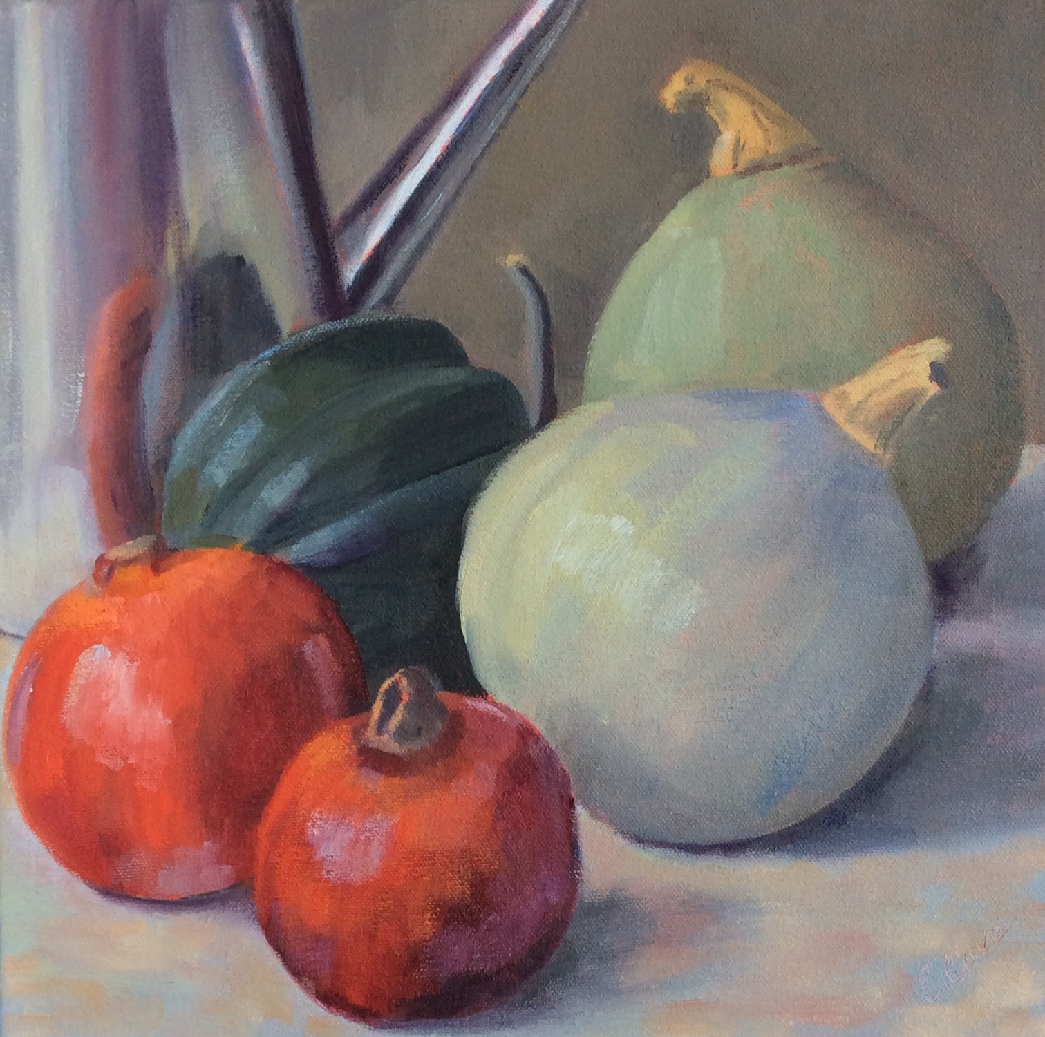 Pomegranates and Gourds