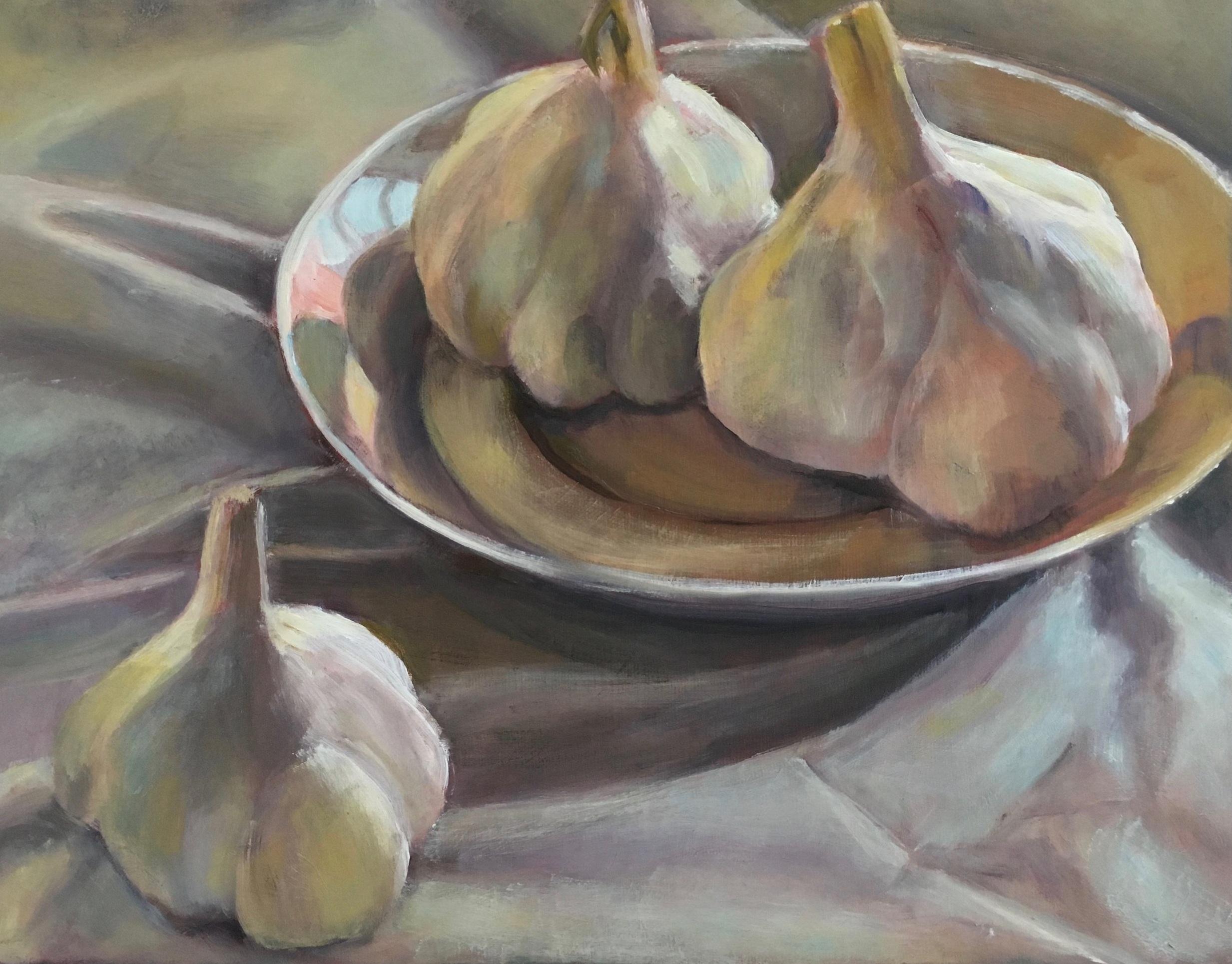 Three Garlic Bulbs