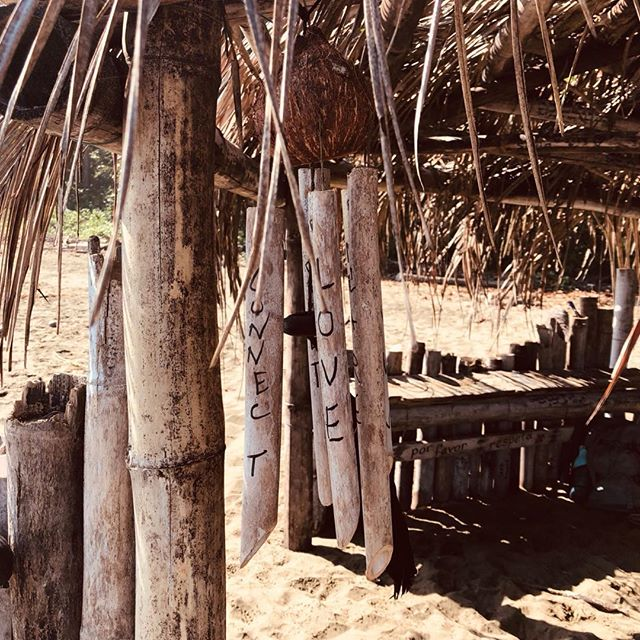 Outside a little beach town called Puerto Viejo, on a quiet beach, is a bamboo hut that communicates the meaning of life: love, freedom, fearlessness. We hear this message in our art and music and we know its truth in the quiet moments. All we have to do is listen! And practice.