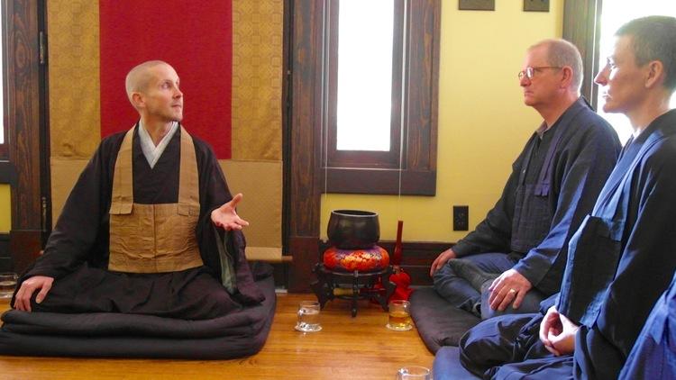 teaching at Houston Zen Center in 2015