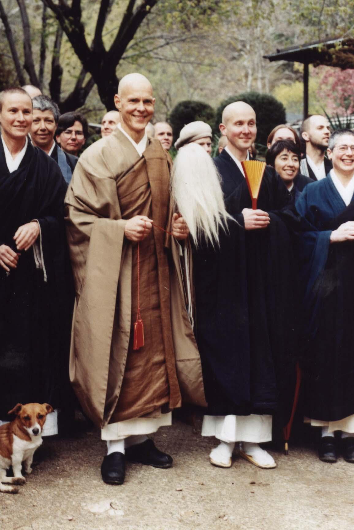 as head monk (shuso) with Root Zen Teacher Tenshin Roshi at Tassajara Monastery in 1999
