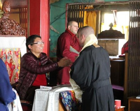 with Root Dzogchen Teacher Tsoknyi Rinpoche at Nagi Gompa in Nepal in 2013