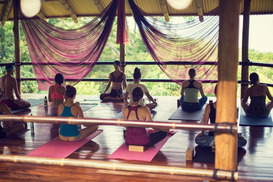 Yoga deck, Selva Armonia, Costa Rica