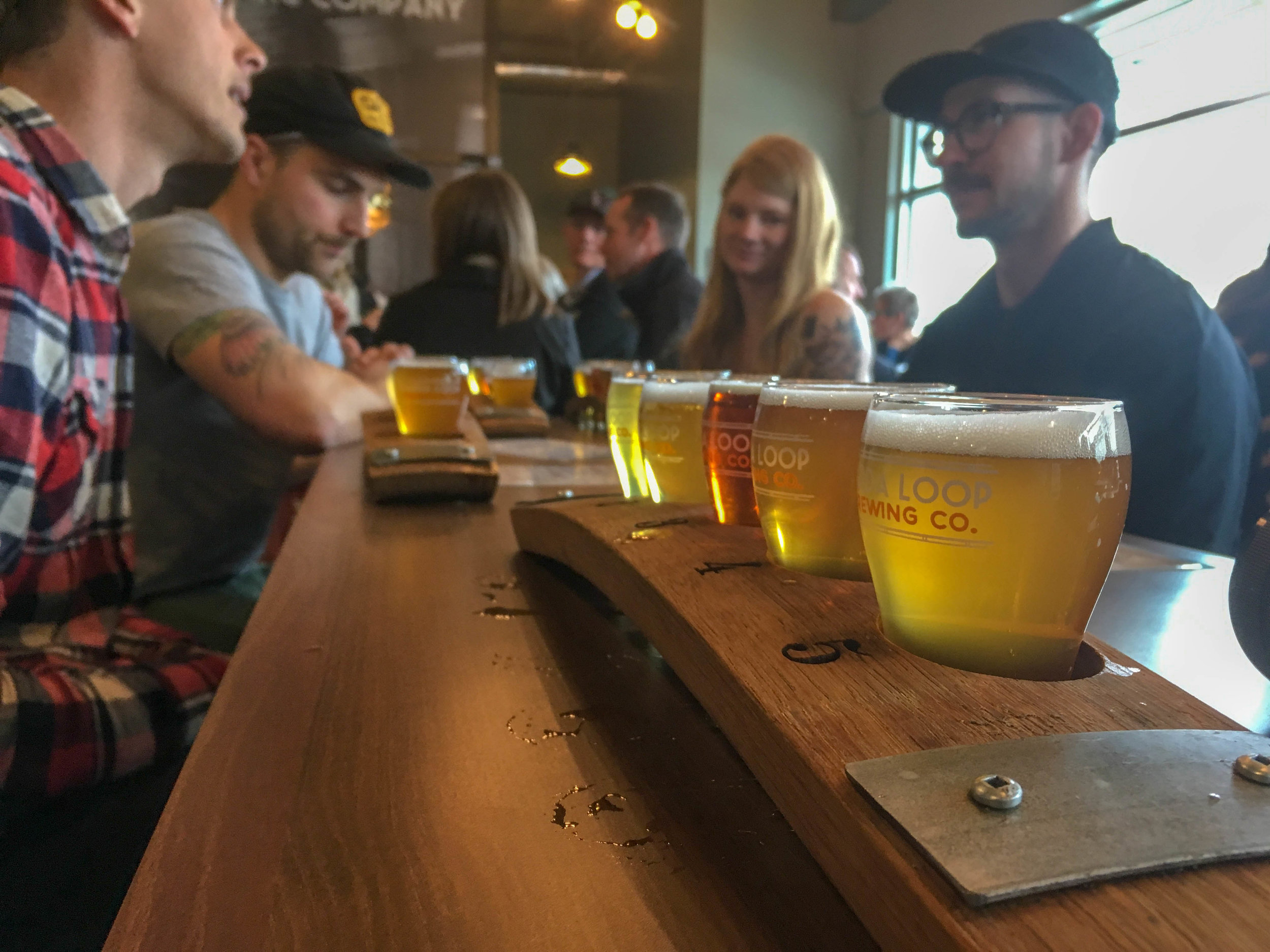Marda Loop Brewing - their core 5 craft beers lined up for a good time!