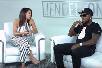 Jen talking with Jeezy.