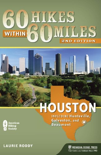 60 Hikes within 60 Miles: Houston - by Laurie RoddyEach chapter serves as both a navigational aid and an interpretive guide to old native homesteads, untouched prairies, deep forests, wetlands, wildlife preserves along the Great Texas Coastal Birding Trail, and scenic bayous and waterways in and around the Bayou City.
