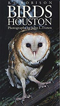 Birds of Houston - by B. C. Robison and John L. Tveten.Nature writer B. C. Robison and wildlife photographer John Tveten have teamed up to produce this field guide for birders who want to identify the birds most commonly seen in Houston. Fifty-five species are included, ranging from such well-known favorites as the mockingbird and cardinal to the more exotic yellow-crowned night heron. A full-color photograph for each bird appears alongside warm and often witty description. For quick reference, a summary of the primary field marks of the adult bird is also provided. This summary includes not only identifying features of the bird but also its habitats, the time of year it can be found, and its distinctive behavioral traits. Aimed at the beginning birder, the guide also gives tips on buying binoculars and on attracting birds to your yard.