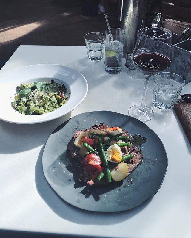 Sunday luncheon at @osteriacasuarina 😋