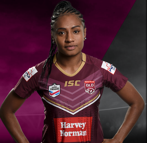 Amelia Kuk   Amelia Kuk is PNG international and Brisbane Broncos' premiership winning women's football player. Amelia started playing rugby union at 17 years old and made her debut for the PNG Women's 7's team at 18 in Hong Kong. From there she switched over to rugby League in 2016 and made the QLD Women's rugby league team. Amelia played two matches for the Australian Jillaroos in 2017 and recently played in the Women's Rugby League World Cup for the PNG Orchids. A registered nurse working in a surgical ward at the Princess Alexandra hospital in Brisbane, Amelia is also a master trainer for the Optimisation Hub which is an organisation delivering programs to educate athletes about resilience and mental agility to consistently perform at their best. Amelia is a role model for young women in PNG and uses rugby league as an opportunity to make a difference and show that women are capable of playing at the same level as men.