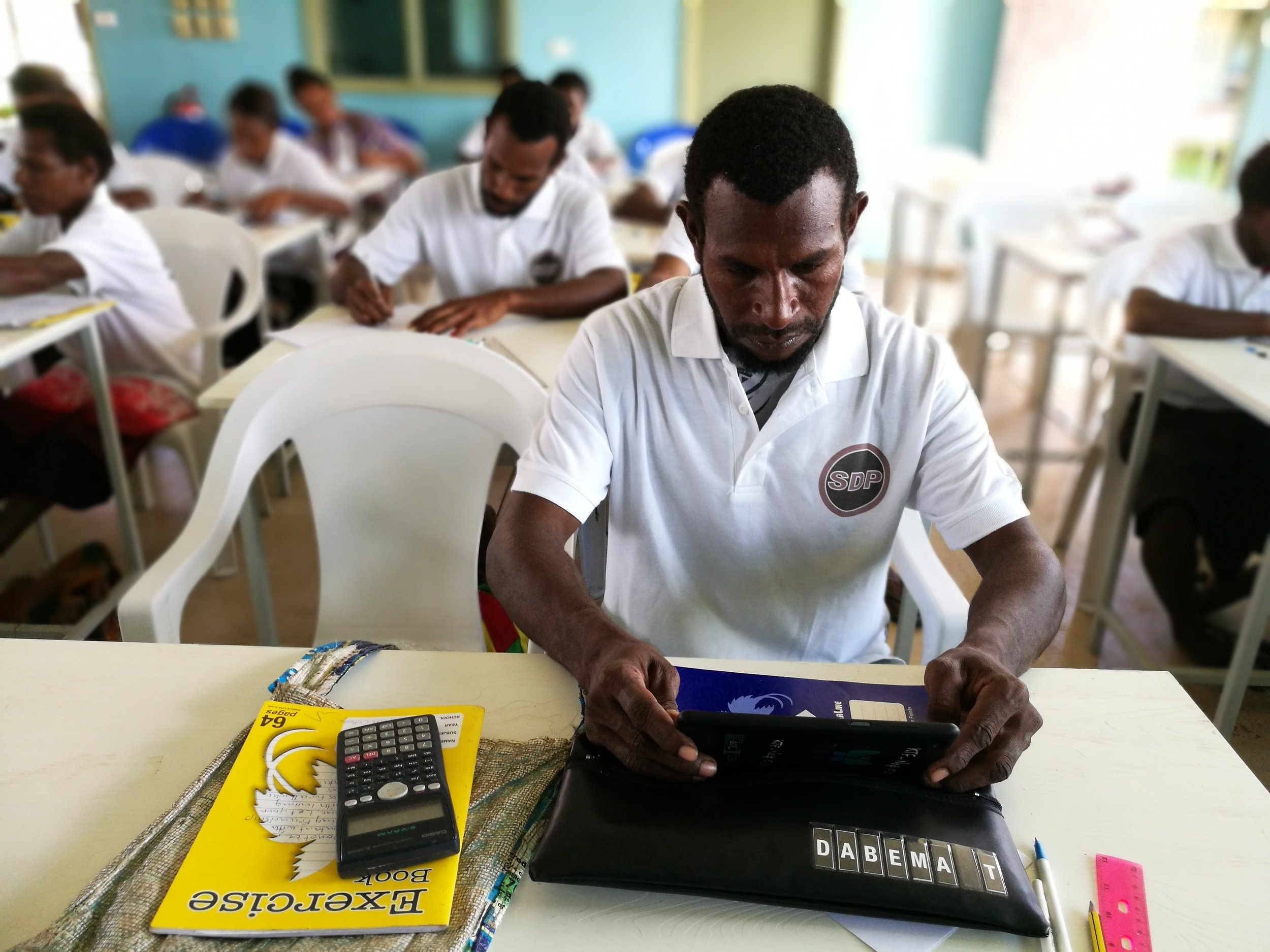 Dabema Tigili, Grade 11 FODE student at the new Balimo College