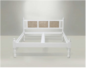 White Cane Bed -