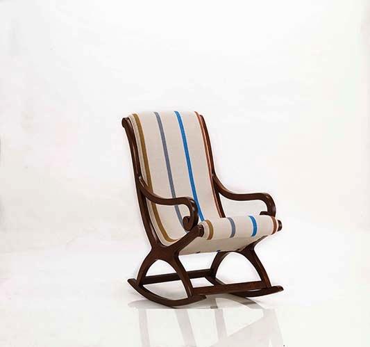 Striped Rocker Chair -