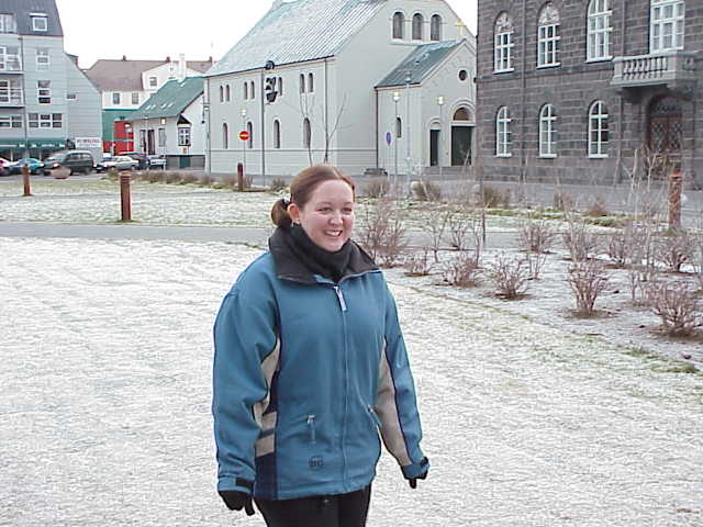 Iceland - City Centre, Mands in the main square.JPG