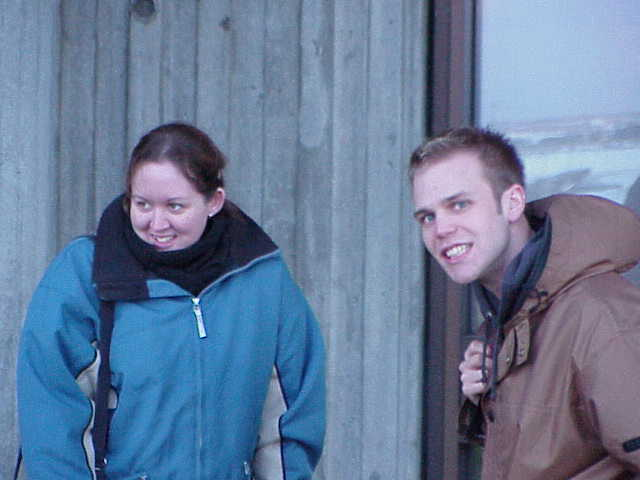 Iceland - Keflavic, Miffy and Mandy freeze.JPG