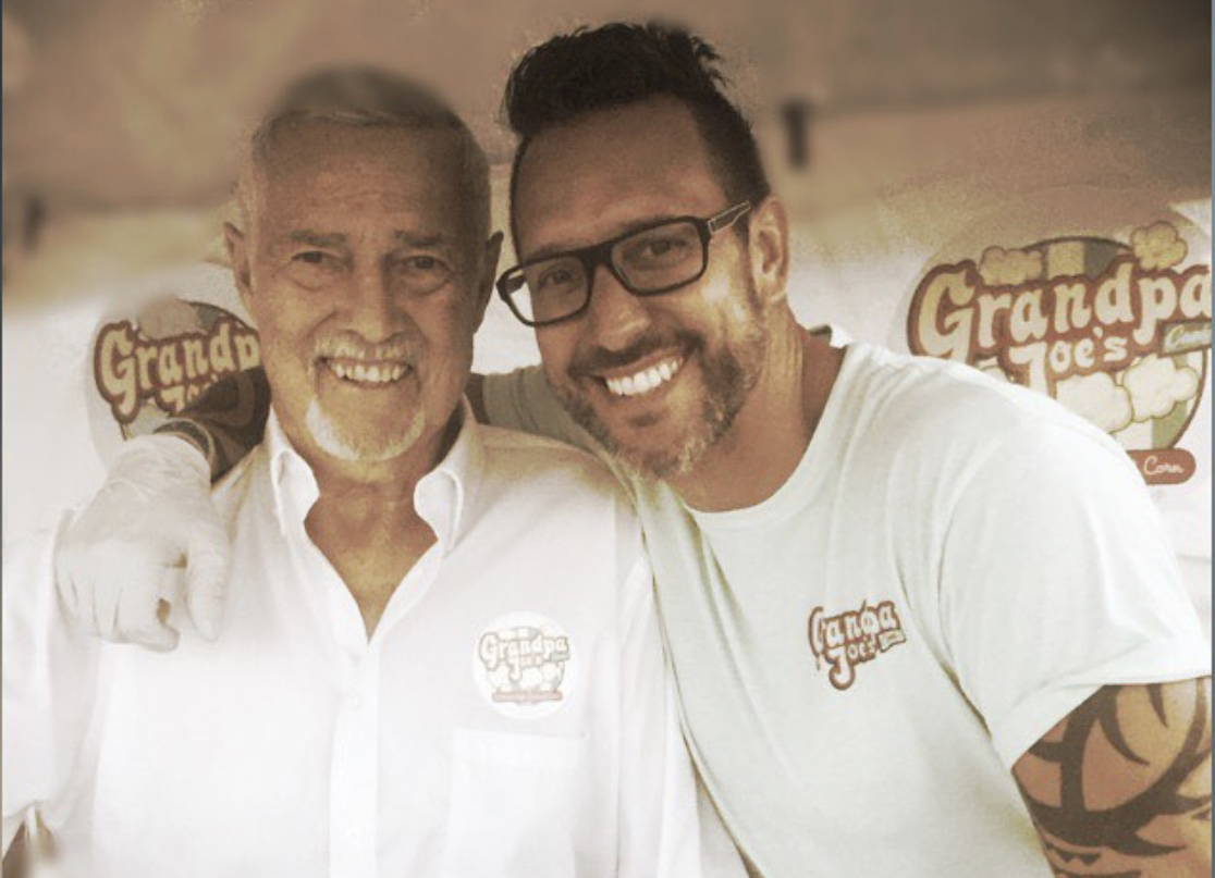 """""""Making confections is in our blood.""""  Pictured from left:  Joe and Chad Miller from Grandpa Joe's Candy Company."""