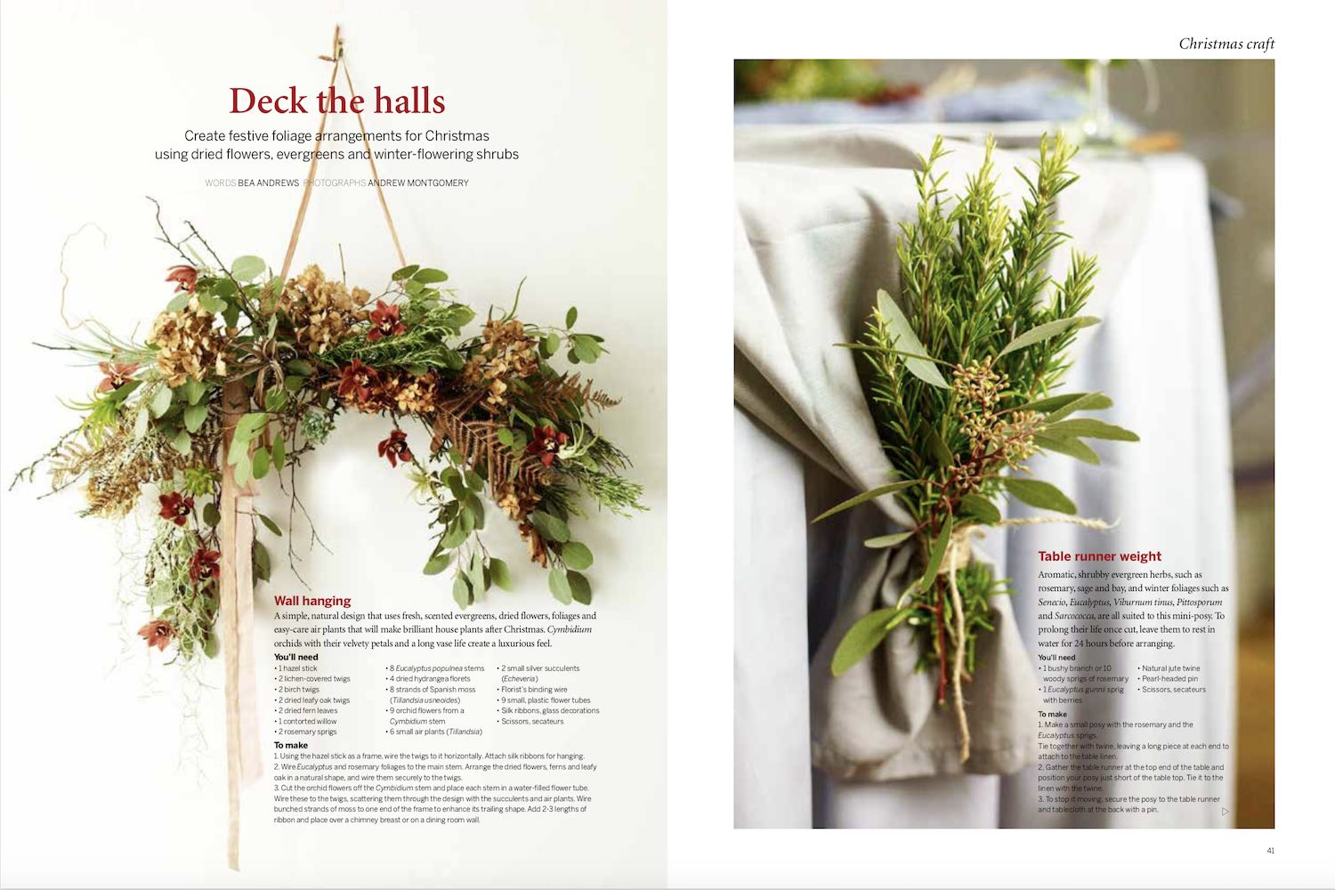 Bea Andrews deck the halls gardens illustrated