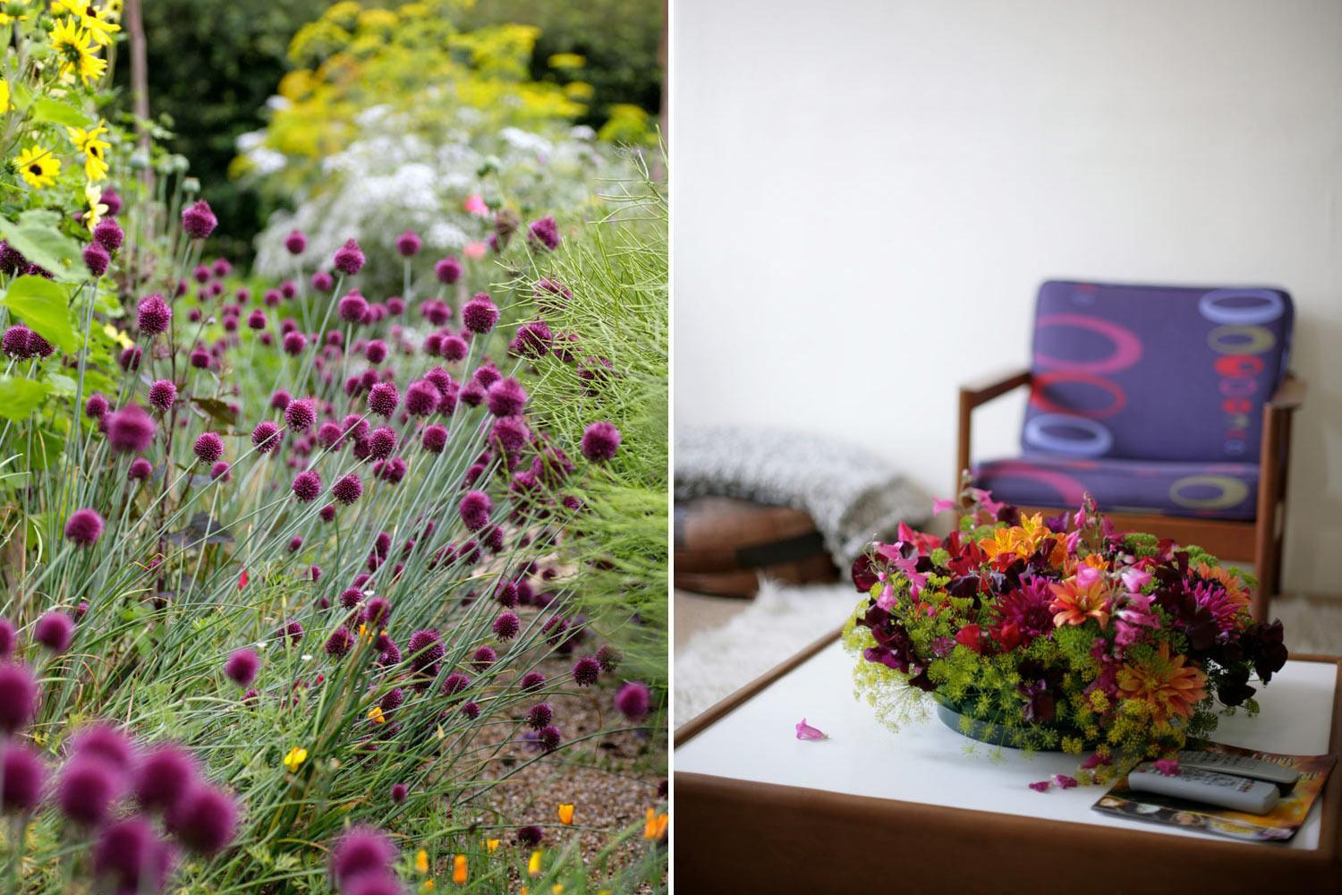 Alliums and table centrepieces