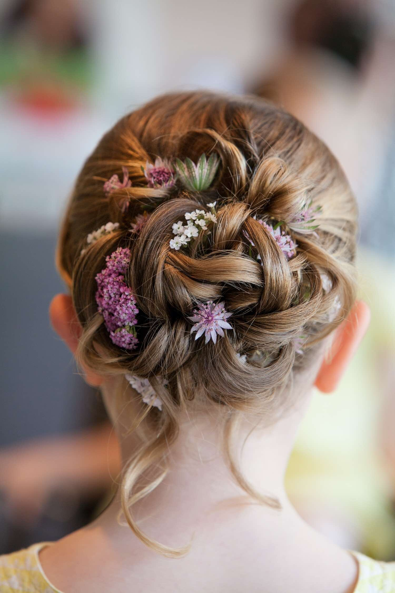 Wedding Hair Flowers Botanika Floral Styling