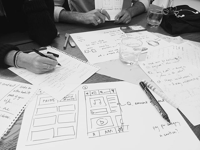 Teamwork makes the dream work. In the ideation stages for our Industry Innovation group project at uni.  #ideation #collaboration #teamwork