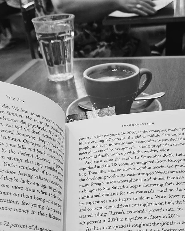 A good book and a coffee is the perfect work-break combination  #coffee #read #reading #books #bookstagram #booksandcoffee