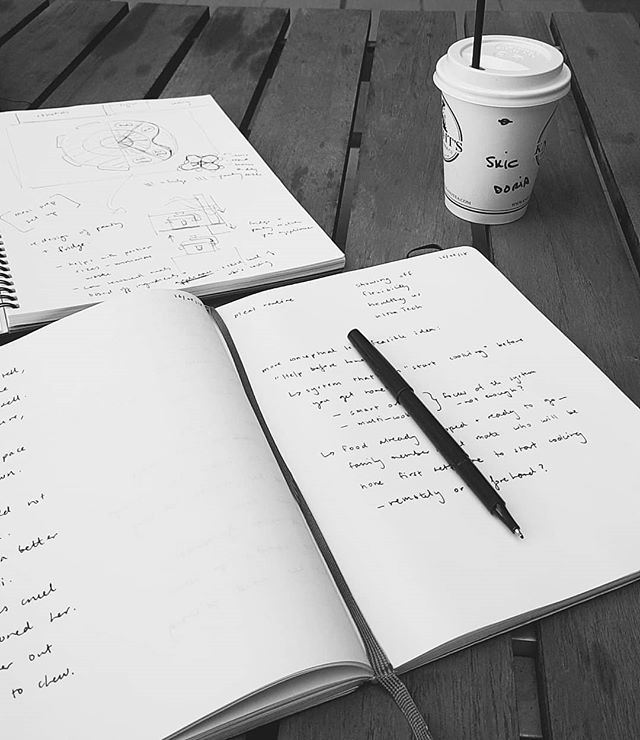 Always jotting down ideas in my @moleskine notebook. The best quality paper and leather covers.  #moleskine #sketchbook