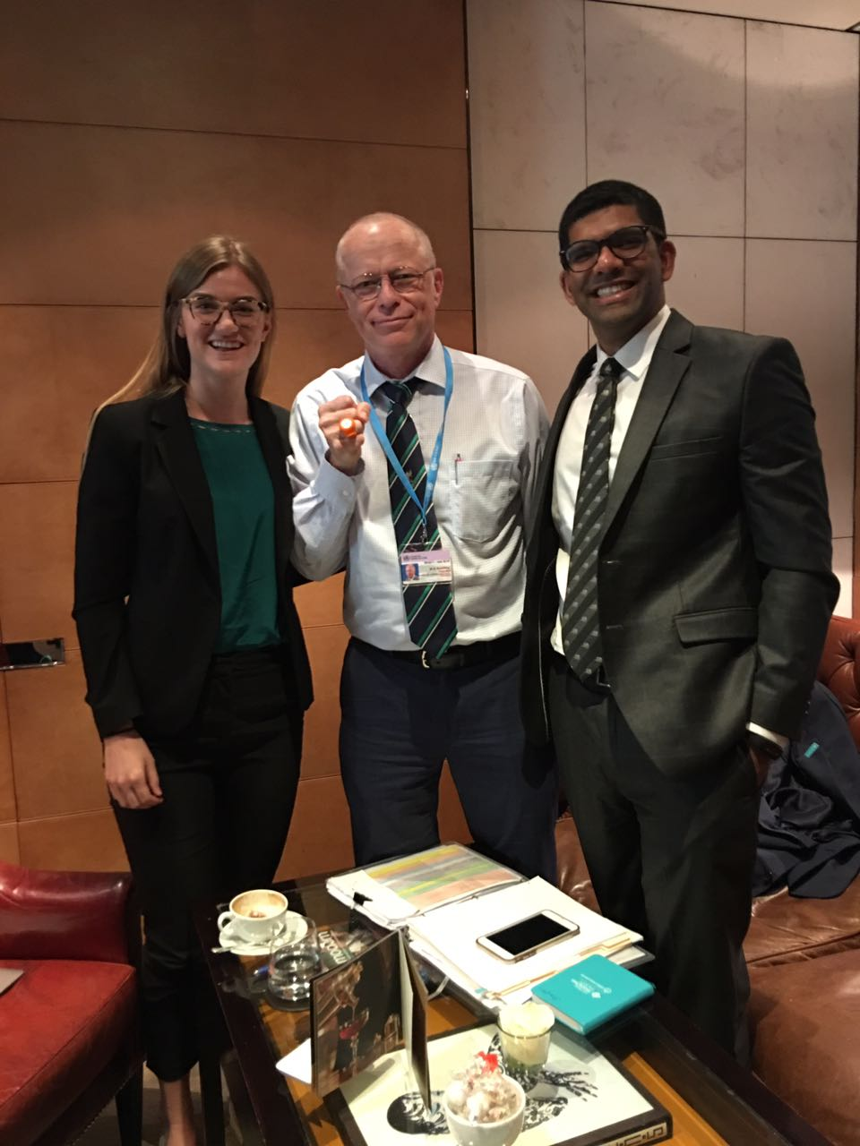 In July, we attended the World Health Assembly held at United Nations in Geneva. The team caught up with Stefan Peterson, Chief of Health of UNICEF to discuss our work preventing Hypothermia in small babies.