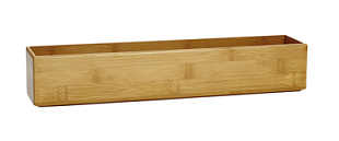 Kmart Large & Narrow Bamboo Drawer