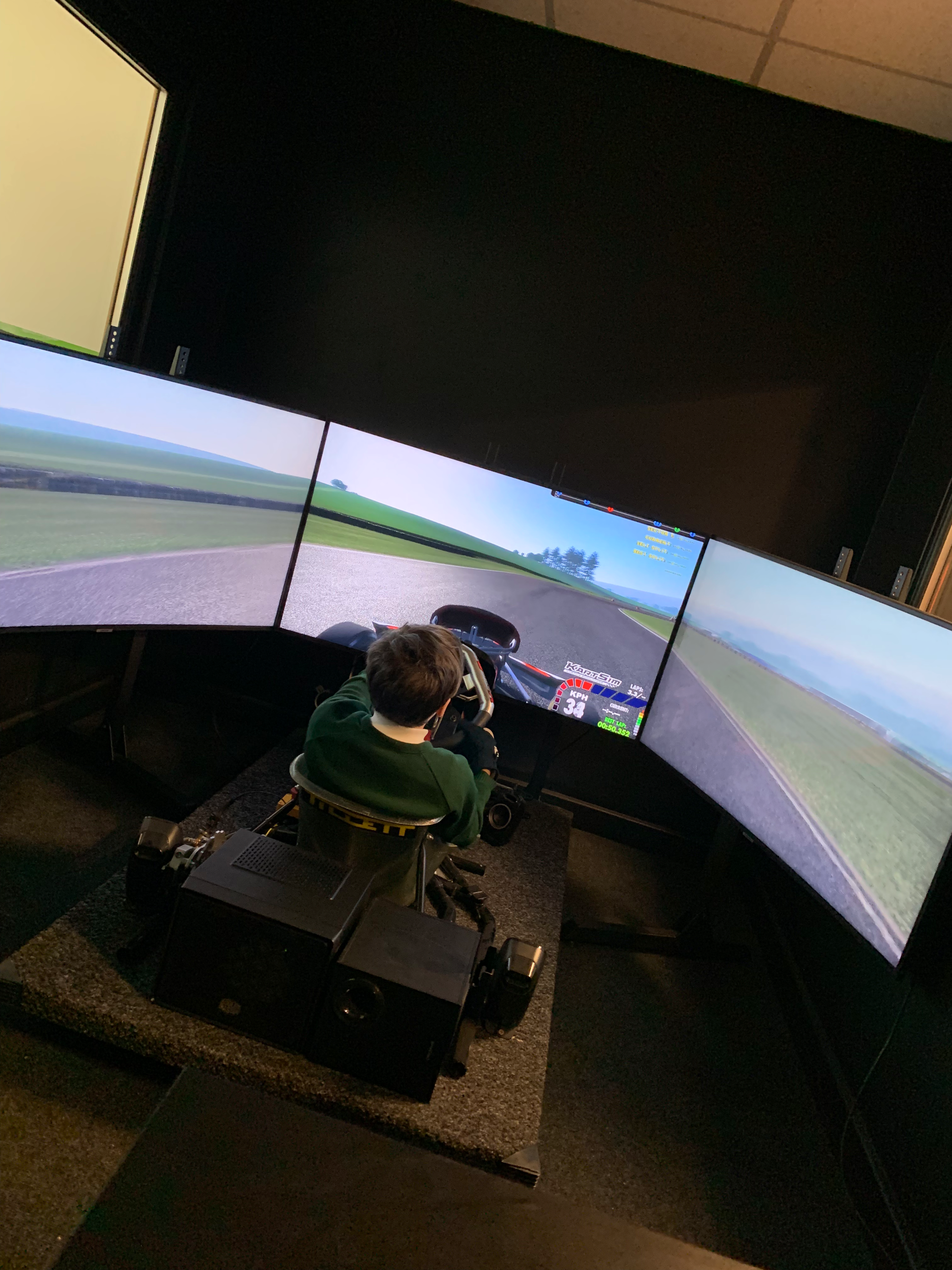 Karting simulation training
